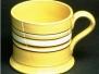 Banded Cream Ware Cider Mugs