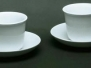 Porcelain Soup Cups & Saucers