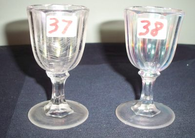 Small glass goblets (Cape Cod glass company)