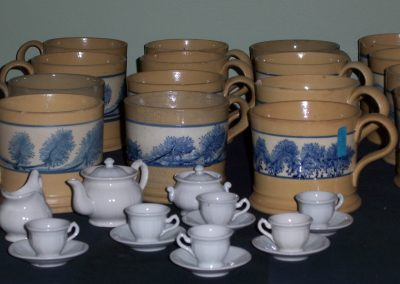 William Adams IV Toy Tea Set & Mochaware mugs