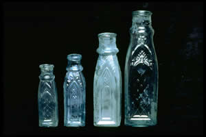 1865 CATHEDRAL Pickle Bottles