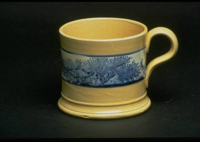 William Adams IV Staffordshire Mochaware Seaweed Mug