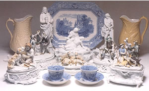 Porcelain and China recovered from 1865 shipwreck