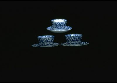 William Adams IV Blue and White Spatterware