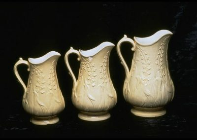 William Adams Beige salt glazed raised corn stalk motif
