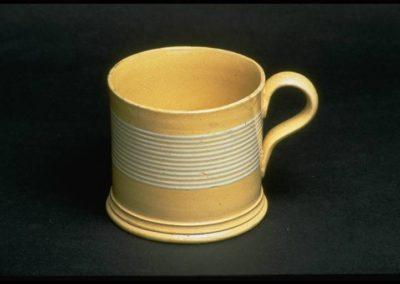 Banded Creme ware Cider Mug